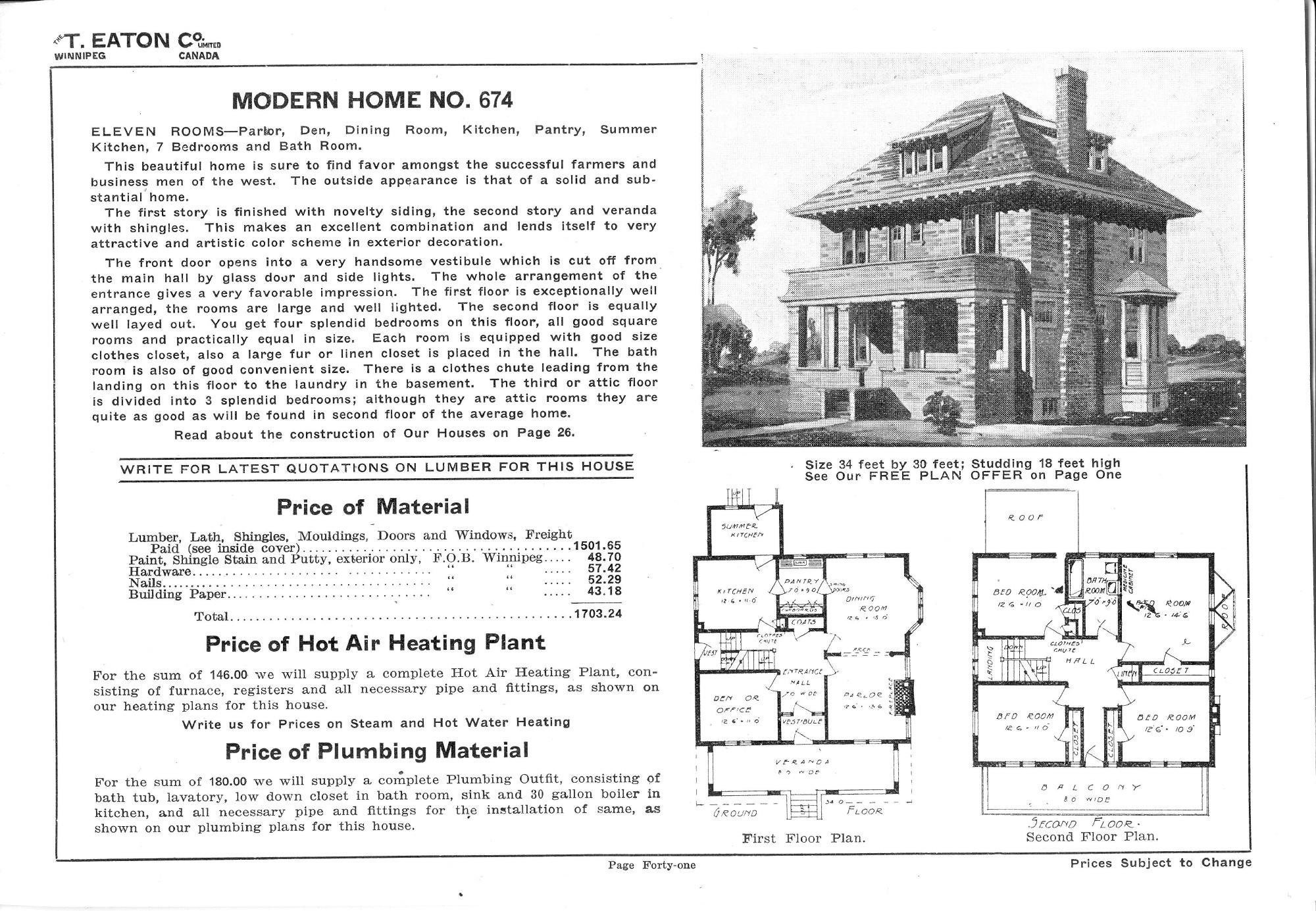 Eaton Catalogue Homes